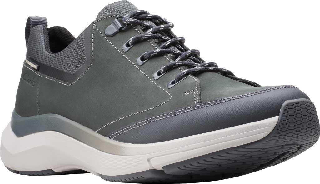 Men's Clarks Wave 2.0 Vibe Sneaker, Dark Grey Nubuck, large, image 1
