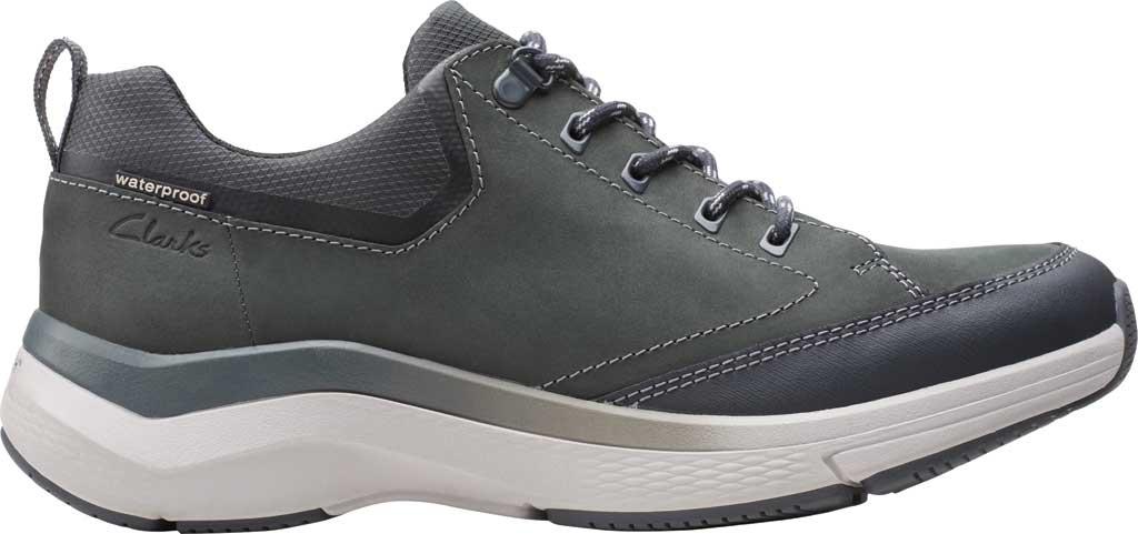 Men's Clarks Wave 2.0 Vibe Sneaker, Dark Grey Nubuck, large, image 2