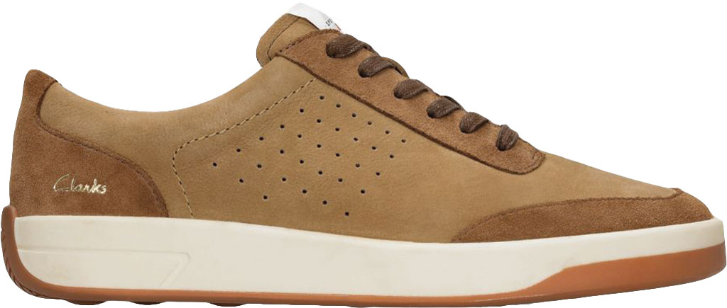 Men's Clarks Hero Air Lace Sneaker, Tan Combination Leather, large, image 1