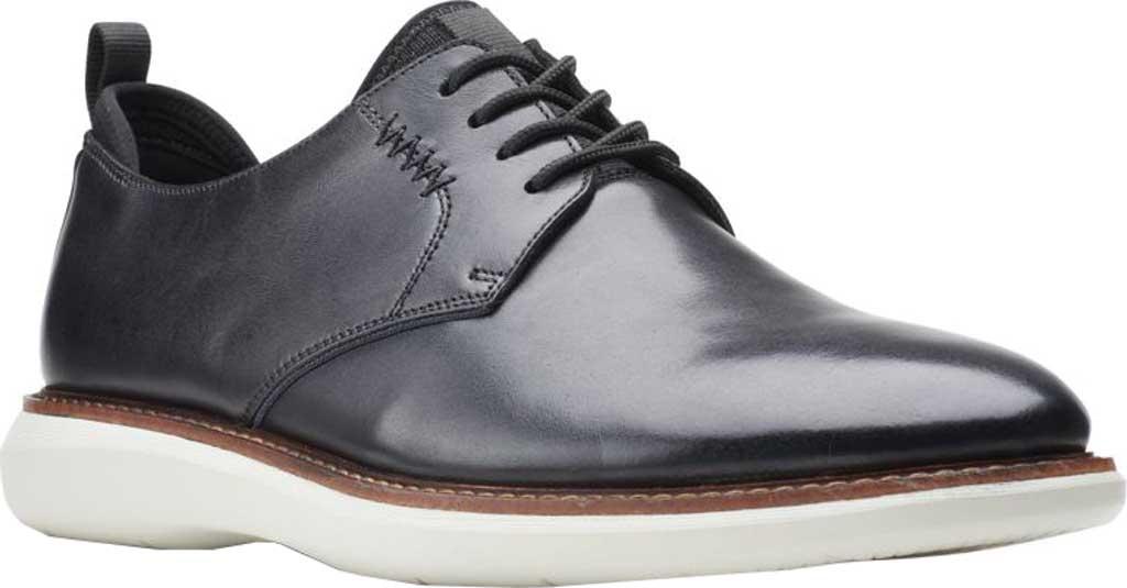Men's Clarks Brantin Low Plain Toe Oxford, Black Full Grain Leather, large, image 1