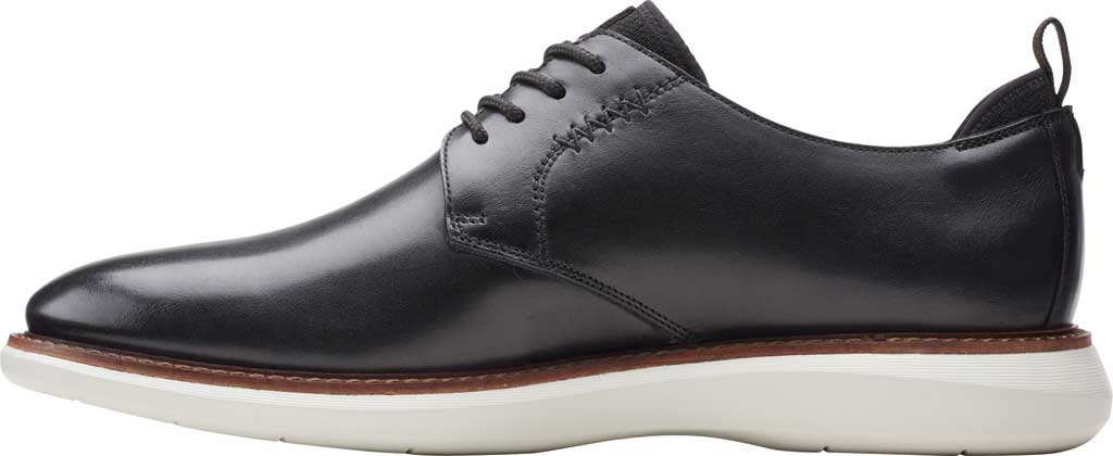 Men's Clarks Brantin Low Plain Toe Oxford, Black Full Grain Leather, large, image 2