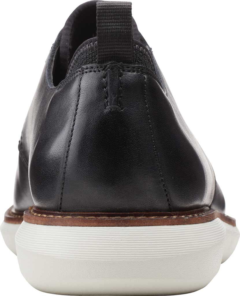 Men's Clarks Brantin Low Plain Toe Oxford, Black Full Grain Leather, large, image 3