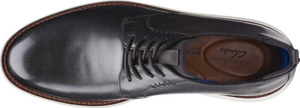 Men's Clarks Brantin Low Plain Toe Oxford, Black Full Grain Leather, large, image 4