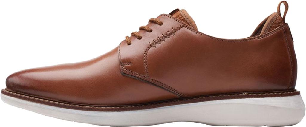 Men's Clarks Brantin Low Plain Toe Oxford, Dark Tan Full Grain Leather, large, image 3