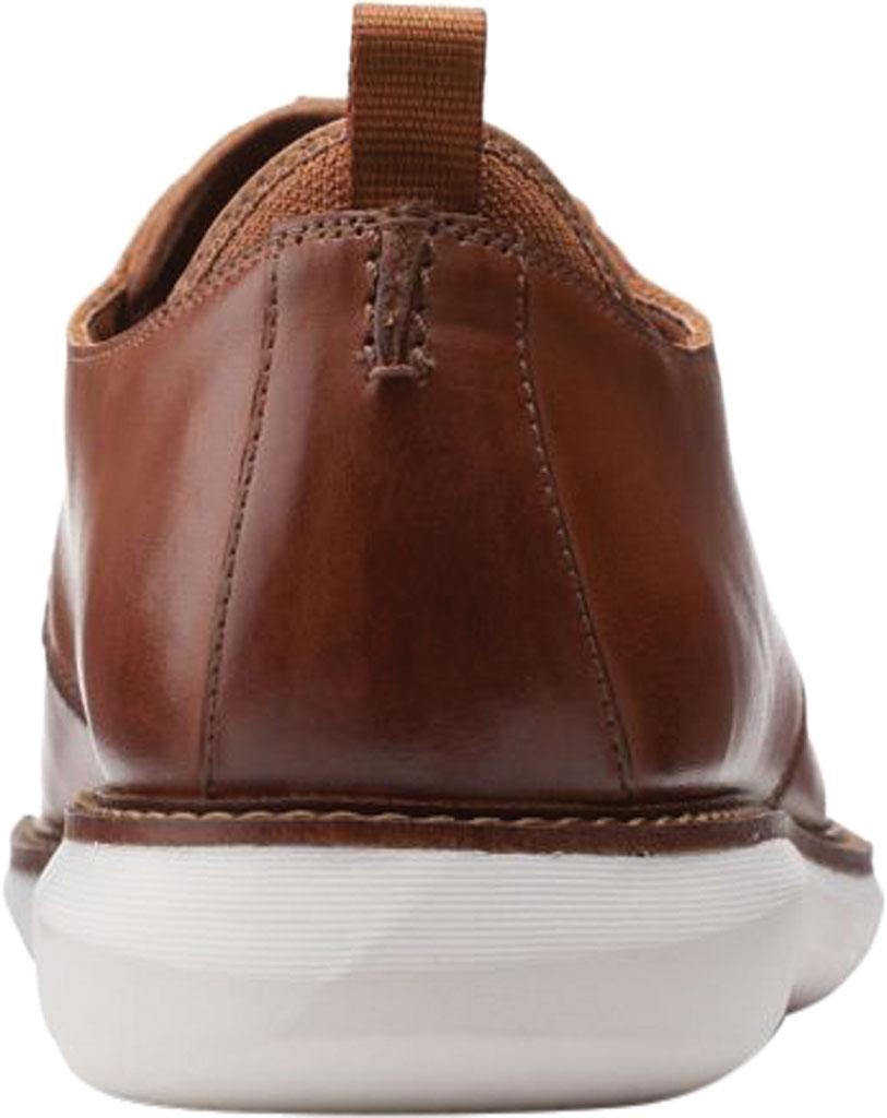 Men's Clarks Brantin Low Plain Toe Oxford, Dark Tan Full Grain Leather, large, image 4