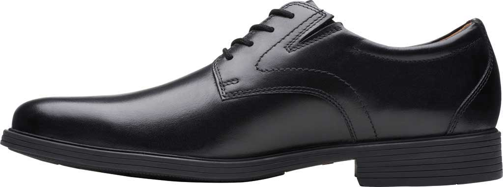 Men's Clarks Whiddon Plain Toe Oxford, Black Full Grain Leather, large, image 3