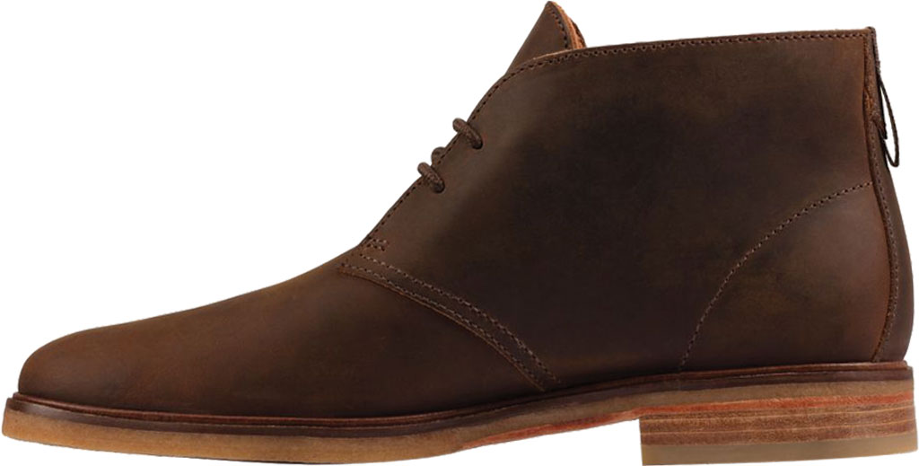 Men's Clarks Clarkdale DBT Chukka Boot, Beeswax Leather, large, image 3