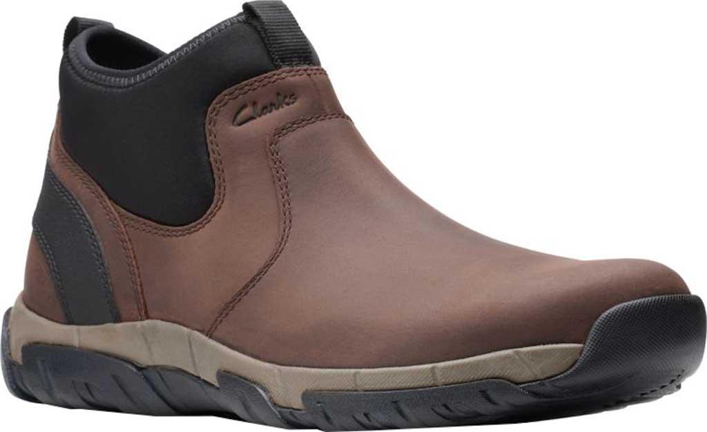 Men's Clarks Grove Up Waterproof Boot, Brown Full Grain Leather, large, image 1