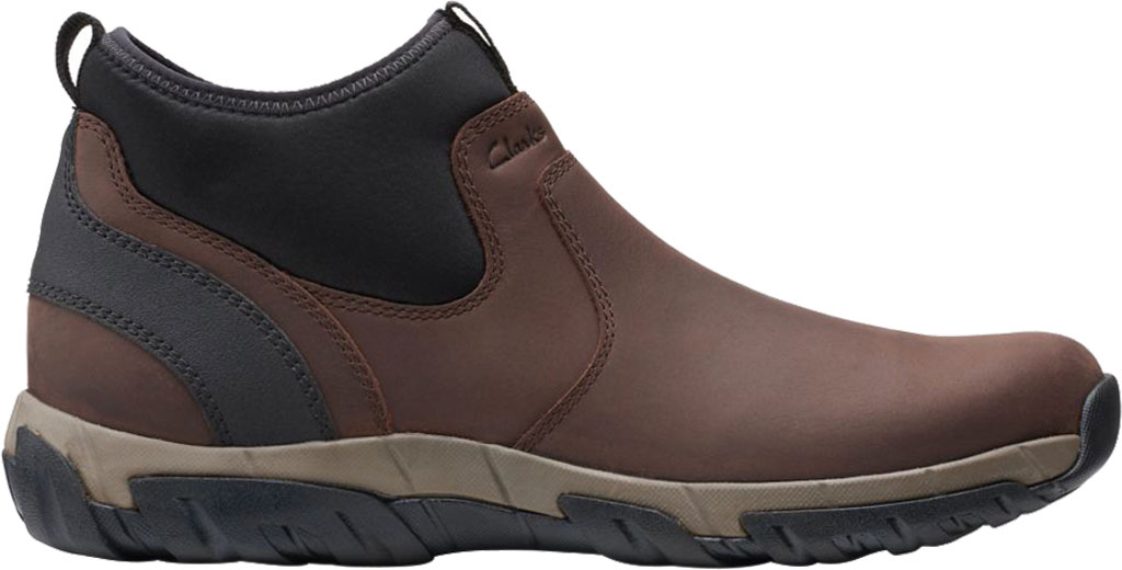 Men's Clarks Grove Up Waterproof Boot, Brown Full Grain Leather, large, image 2