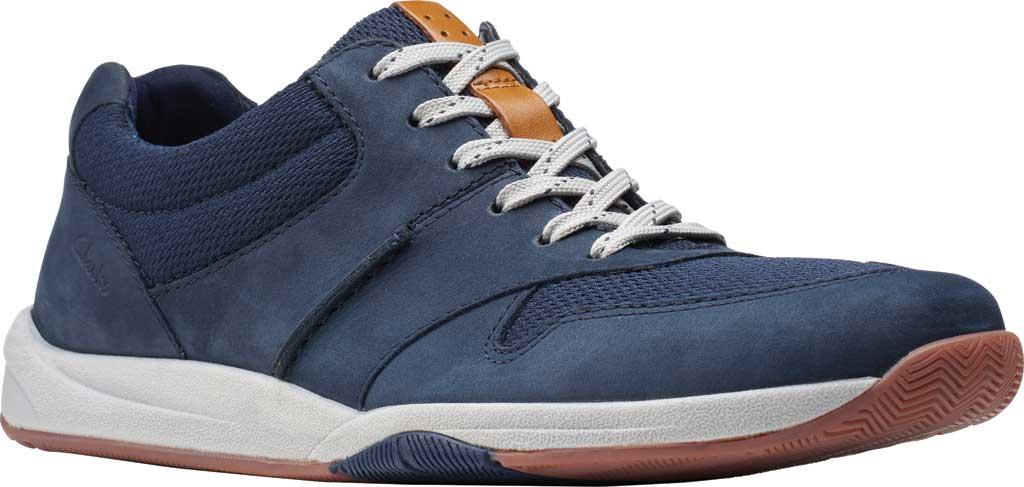 Men's Clarks Langton Race Sneaker, Navy Nubuck, large, image 1