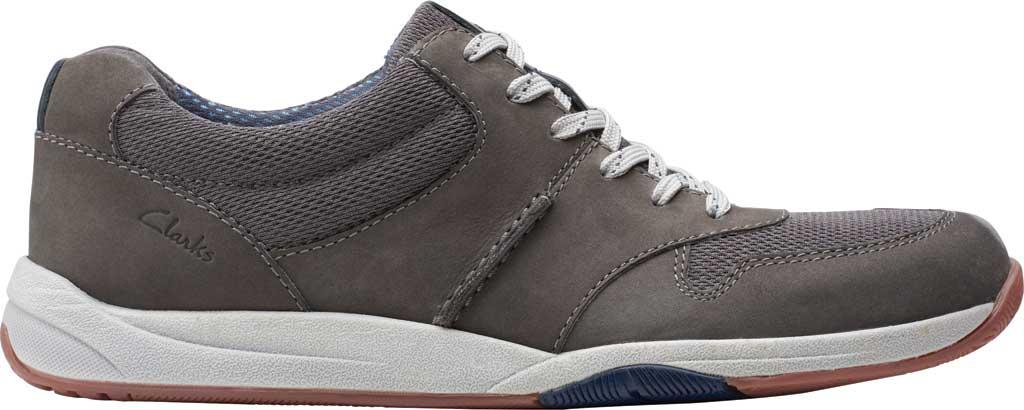 Men's Clarks Langton Race Sneaker, Grey Nubuck, large, image 2