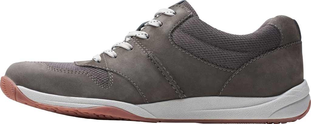 Men's Clarks Langton Race Sneaker, Grey Nubuck, large, image 3