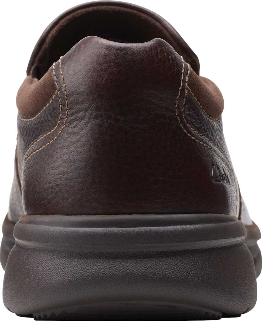 Men's Clarks Bradley Step Bicycle Toe Slip On, Brown Tumbled Leather, large, image 4