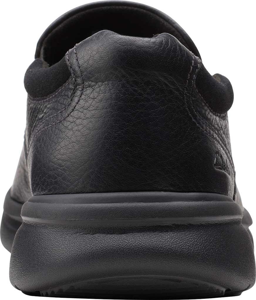 Men's Clarks Bradley Step Bicycle Toe Slip On, Black Tumbled Leather, large, image 4