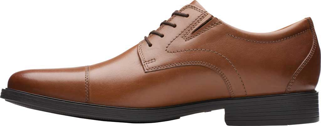Men's Clarks Whiddon Cap Toe Oxford, Dark Tan Full Grain Leather, large, image 3