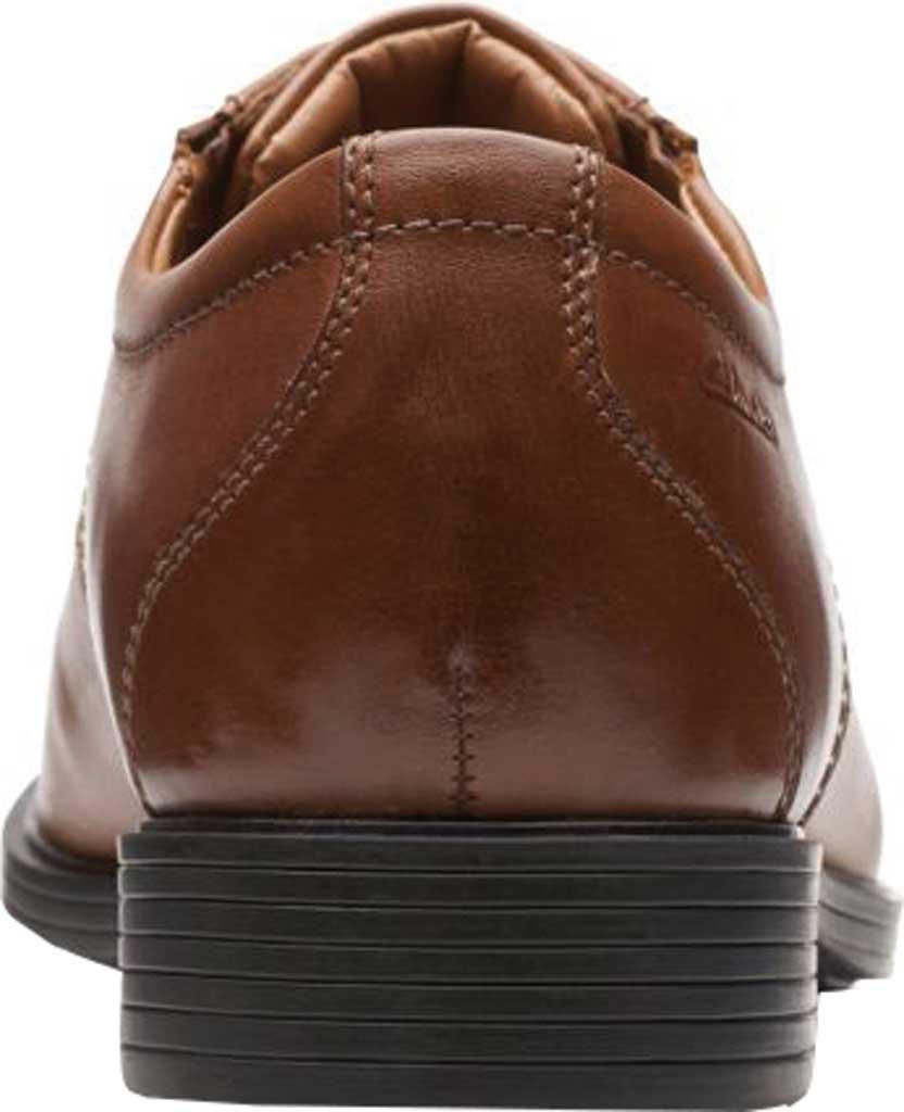 Men's Clarks Whiddon Cap Toe Oxford, Dark Tan Full Grain Leather, large, image 4