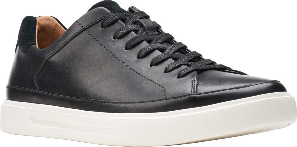 Men's Clarks Un Costa Tie Sneaker, Black Full Grain Leather/Nubuck, large, image 1