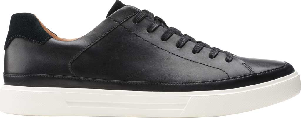 Men's Clarks Un Costa Tie Sneaker, Black Full Grain Leather/Nubuck, large, image 2