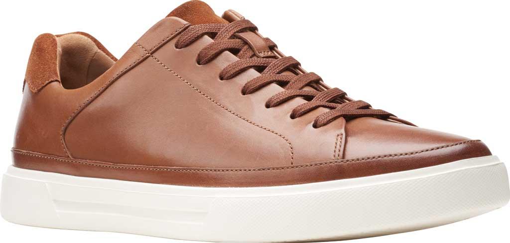 Men's Clarks Un Costa Tie Sneaker, British Tan Full Grain Leather/Nubuck, large, image 1