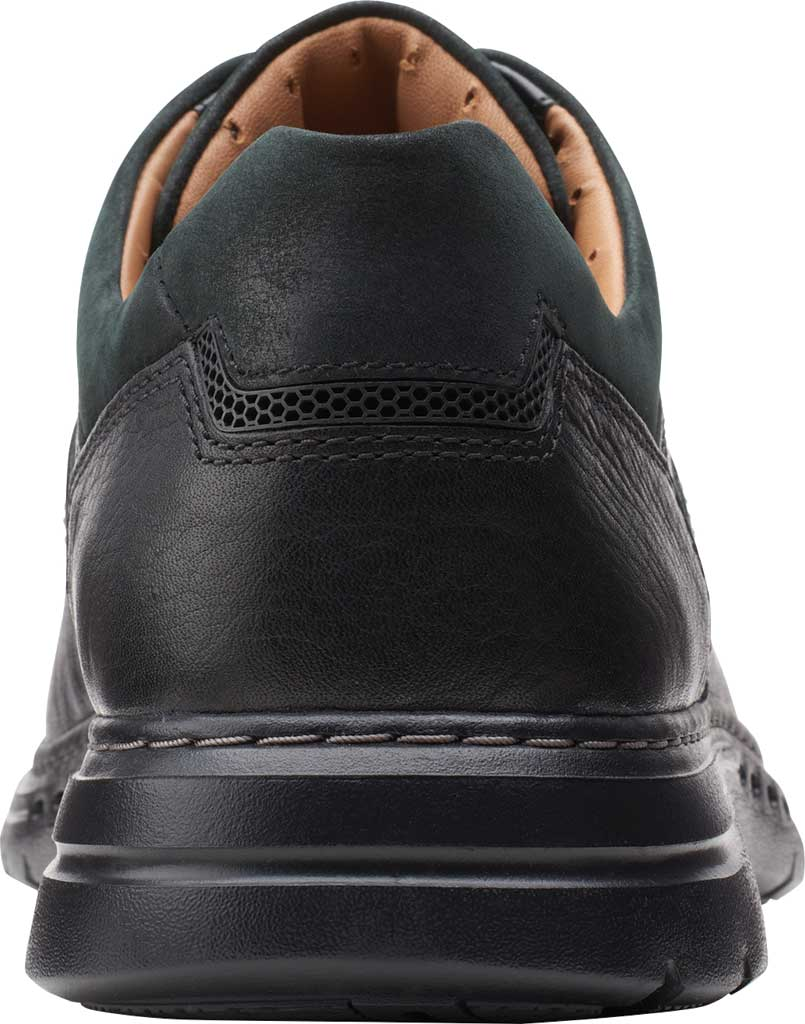 Men's Clarks Un Brawley Lace Oxford, Black Tumbled Leather, large, image 4