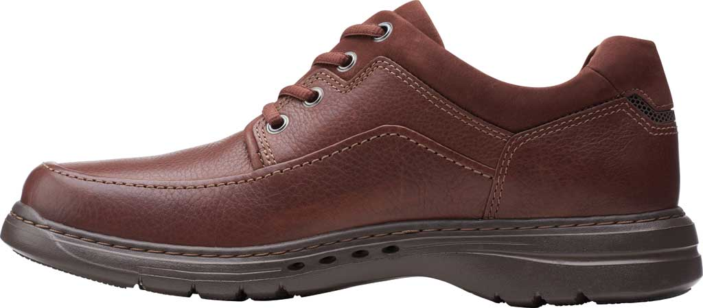 Men's Clarks Un Brawley Lace Oxford, Mahogany Tumbled Leather, large, image 3