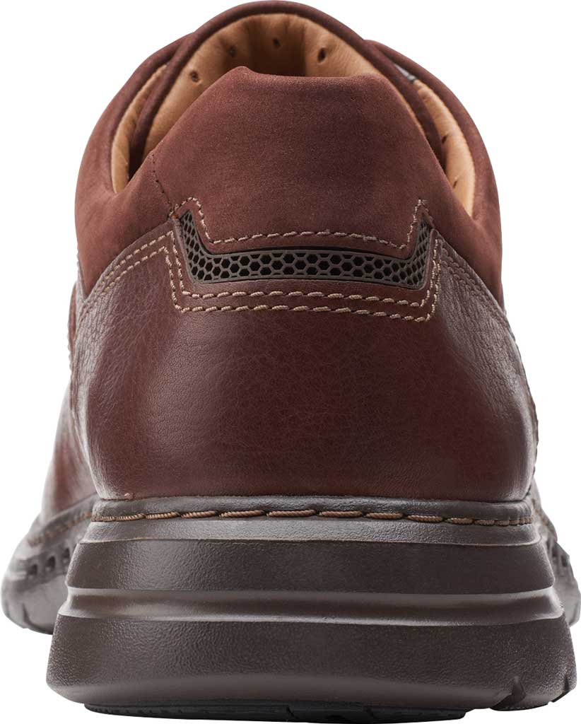 Men's Clarks Un Brawley Lace Oxford, Mahogany Tumbled Leather, large, image 4