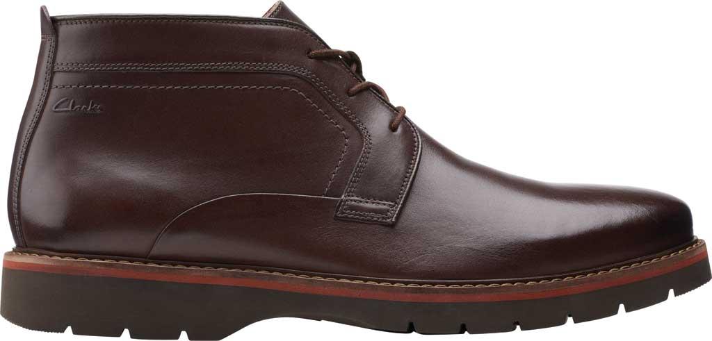 Men's Clarks Bayhill Mid Chukka Boot, Dark Brown Full Grain Leather, large, image 2