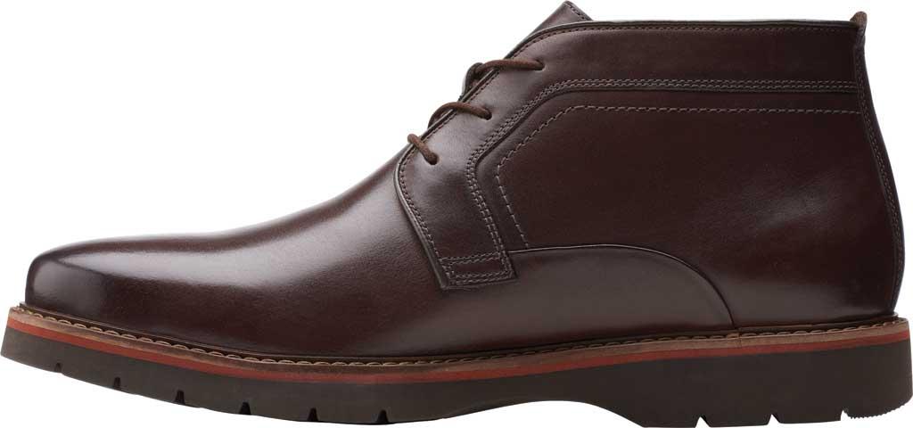 Men's Clarks Bayhill Mid Chukka Boot, Dark Brown Full Grain Leather, large, image 3