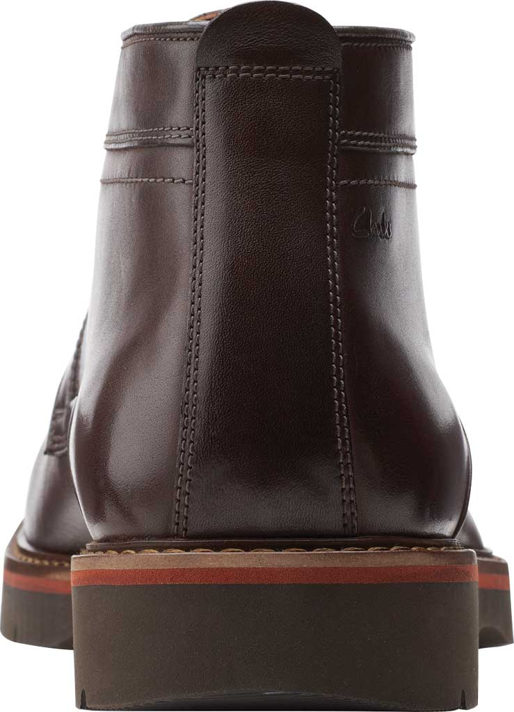 Men's Clarks Bayhill Mid Chukka Boot, Dark Brown Full Grain Leather, large, image 4