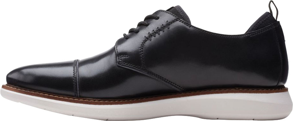 Men's Clarks Brantin Cap Toe Oxford, Black Full Grain Leather, large, image 3