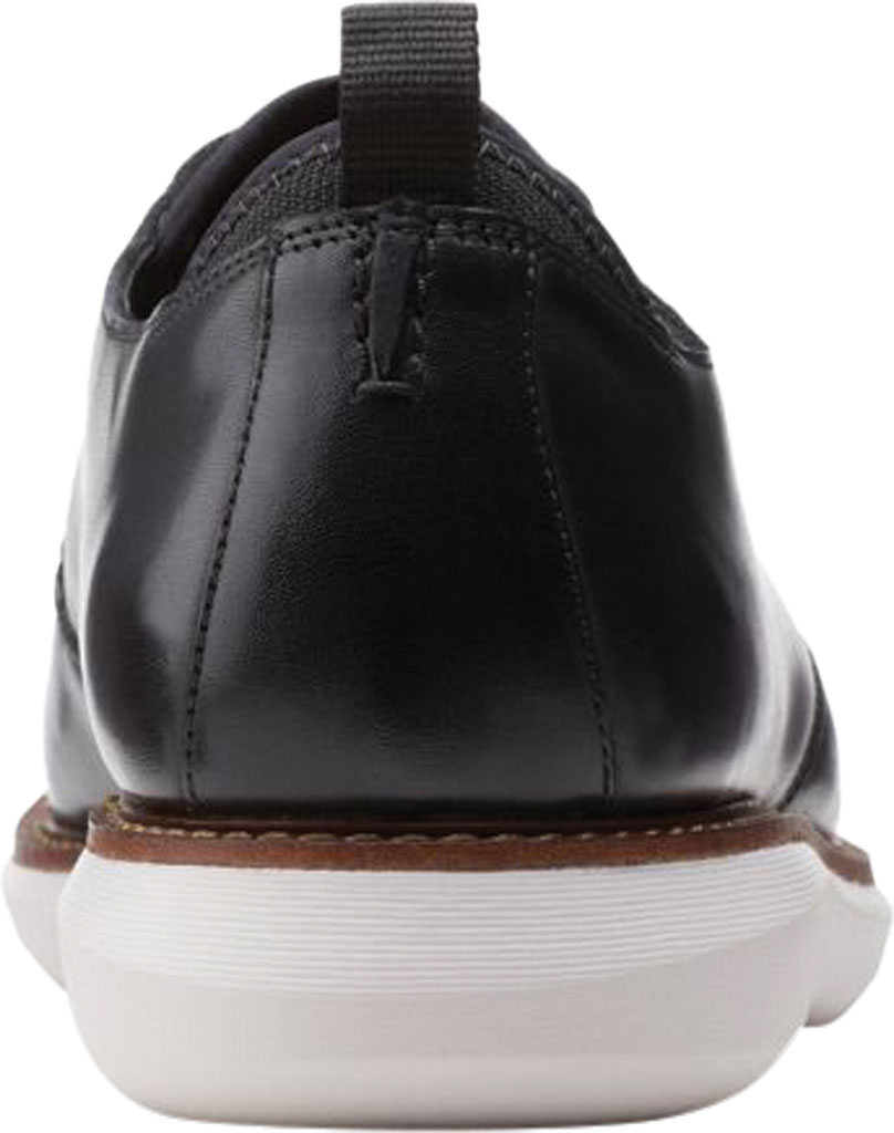 Men's Clarks Brantin Cap Toe Oxford, Black Full Grain Leather, large, image 4