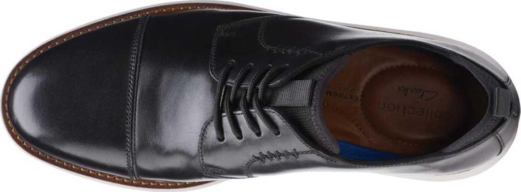 Men's Clarks Brantin Cap Toe Oxford, Black Full Grain Leather, large, image 5