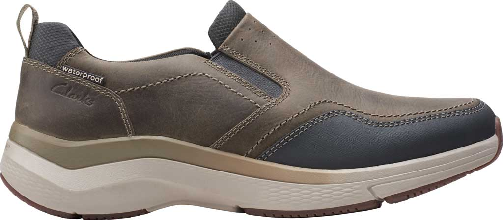 Men's Clarks Wave 2.0 Edge Slip On Sneaker, Sage Oily Tumbled Leather, large, image 2
