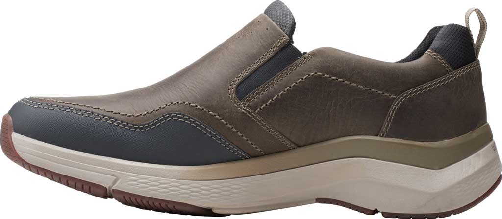 Men's Clarks Wave 2.0 Edge Slip On Sneaker, Sage Oily Tumbled Leather, large, image 3
