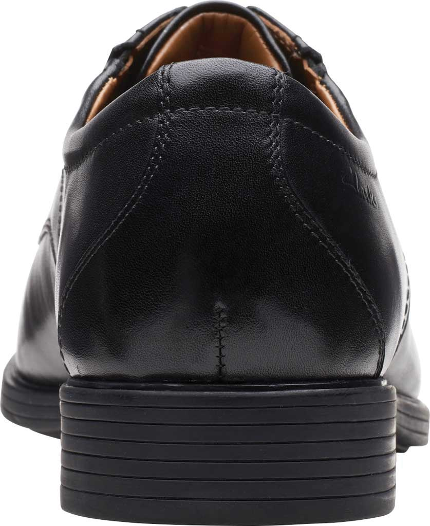 Men's Clarks Whiddon Pace Bicycle Toe Oxford, Black Full Grain Leather, large, image 4