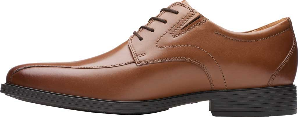 Men's Clarks Whiddon Pace Bicycle Toe Oxford, Dark Tan Full Grain Leather, large, image 3