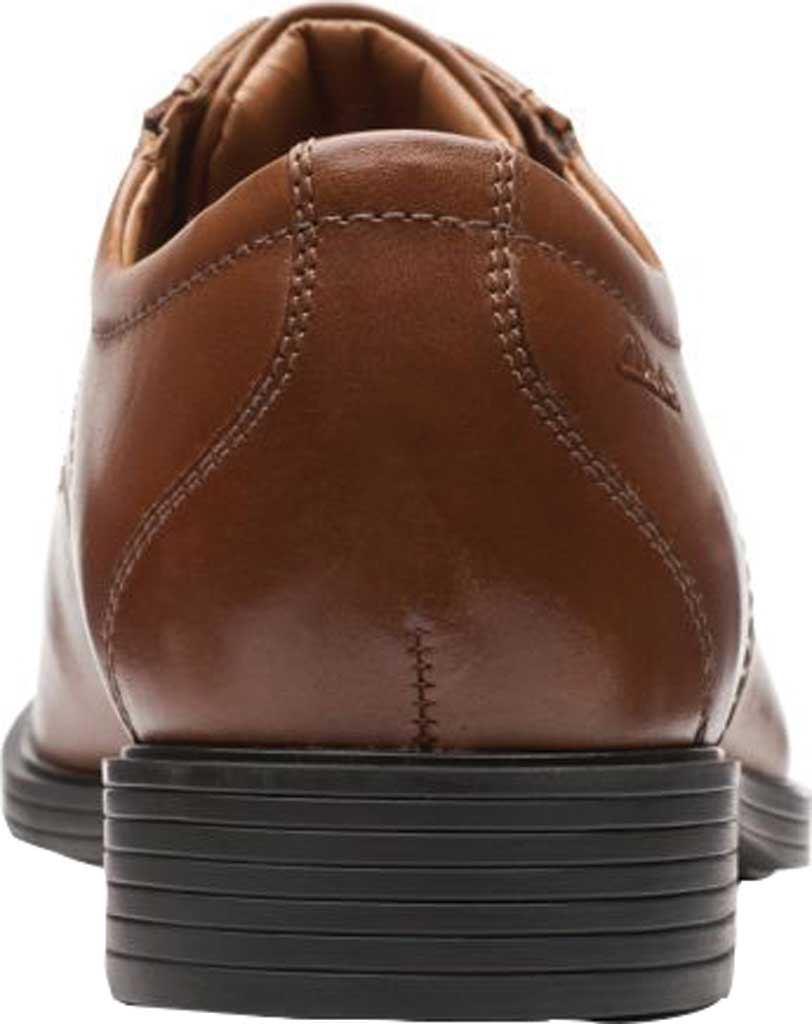 Men's Clarks Whiddon Pace Bicycle Toe Oxford, Dark Tan Full Grain Leather, large, image 4