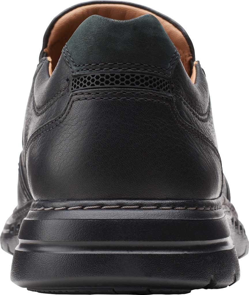 Men's Clarks Un Brawley Step Slip On, Black Tumbled Leather, large, image 4