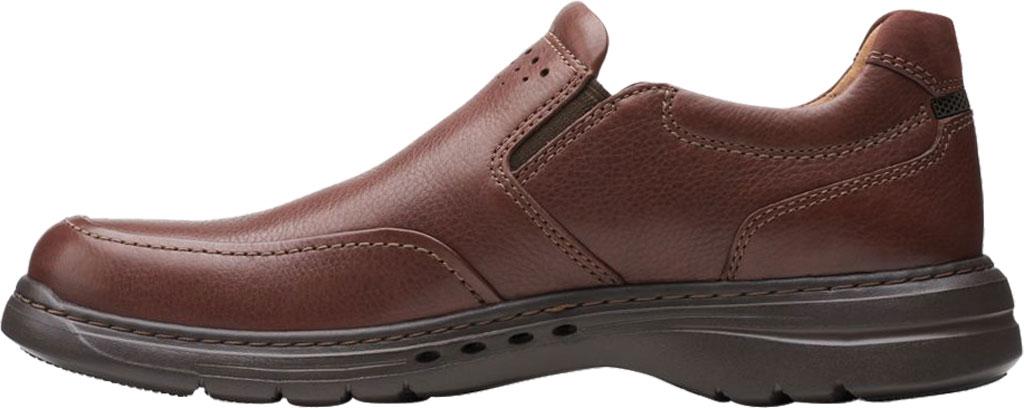 Men's Clarks Un Brawley Step Slip On, Mahogany Tumbled Leather, large, image 3