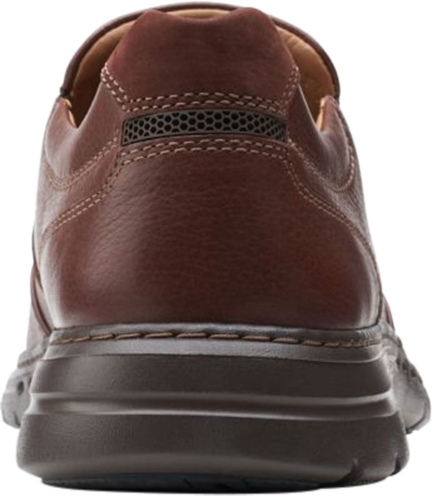 Men's Clarks Un Brawley Step Slip On, Mahogany Tumbled Leather, large, image 4