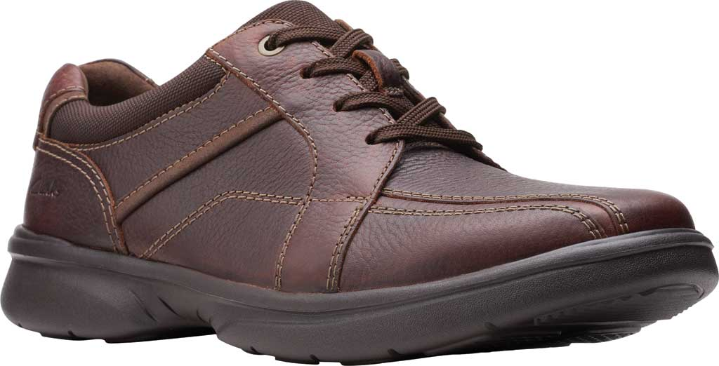 Men's Clarks Bradley Walk Oxford, Brown Tumbled Leather, large, image 1