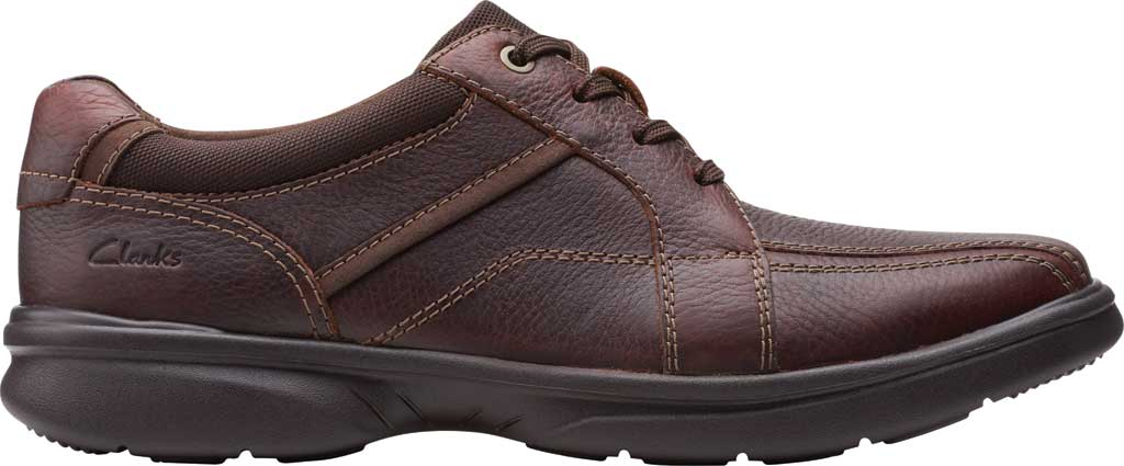 Men's Clarks Bradley Walk Oxford, Brown Tumbled Leather, large, image 2