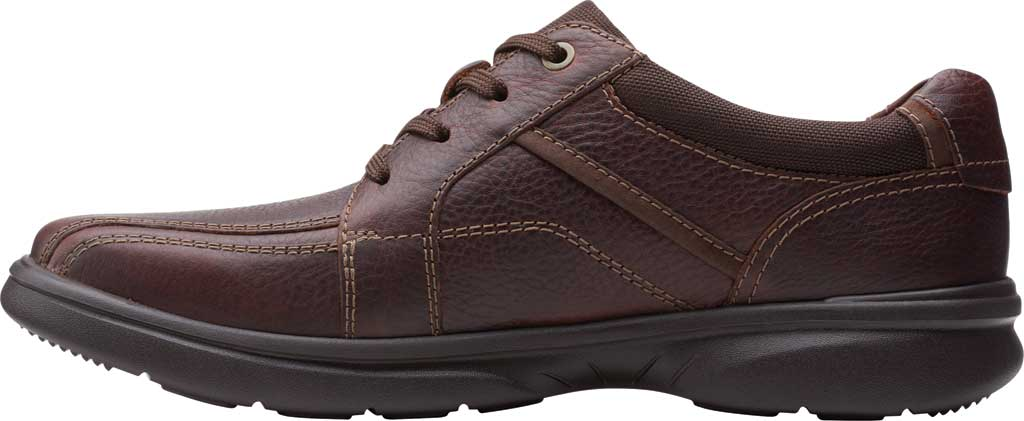 Men's Clarks Bradley Walk Oxford, Brown Tumbled Leather, large, image 3