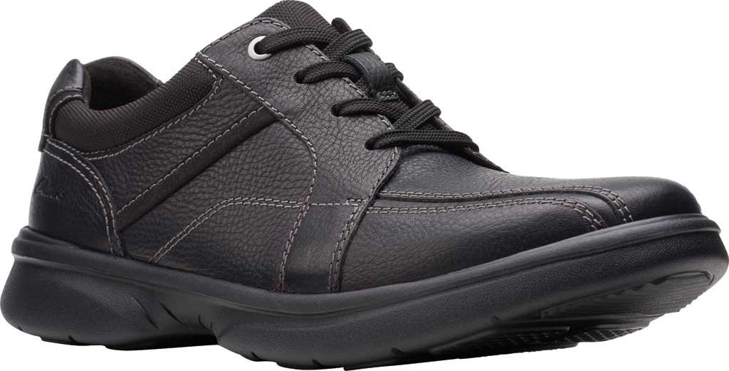 Men's Clarks Bradley Walk Oxford, Black Tumbled Leather, large, image 1