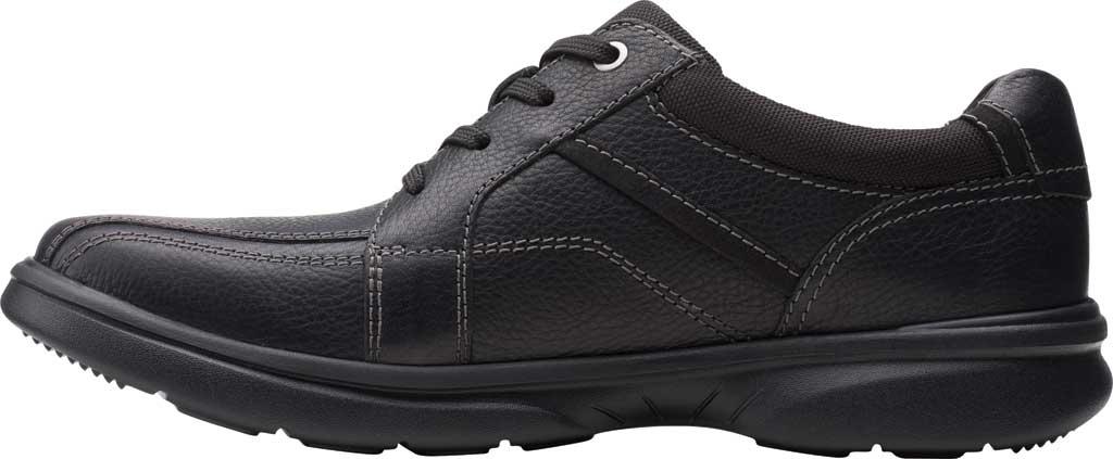 Men's Clarks Bradley Walk Oxford, Black Tumbled Leather, large, image 3