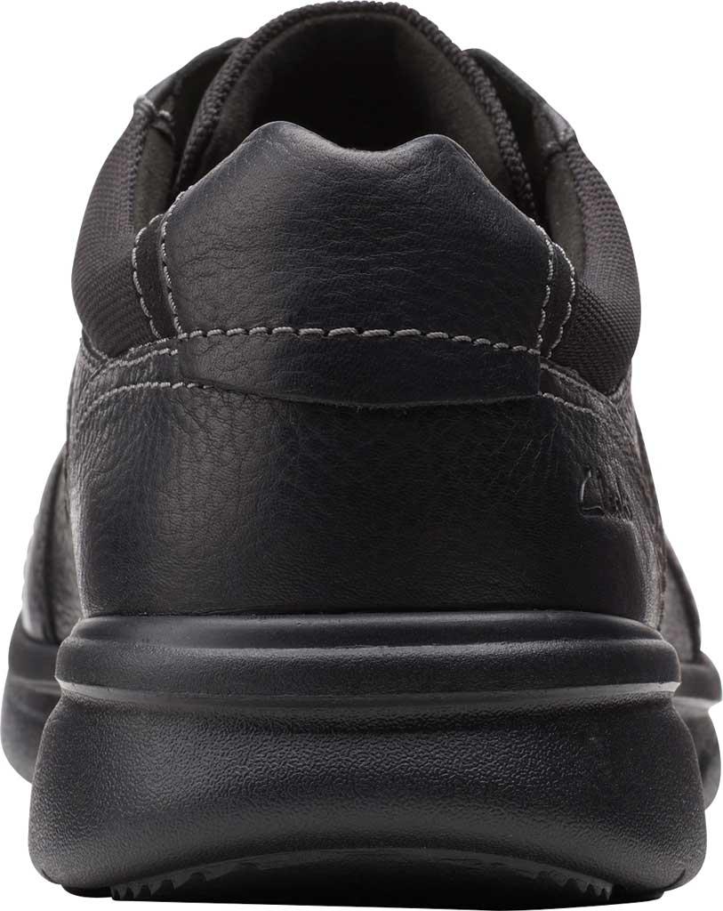 Men's Clarks Bradley Walk Oxford, Black Tumbled Leather, large, image 4