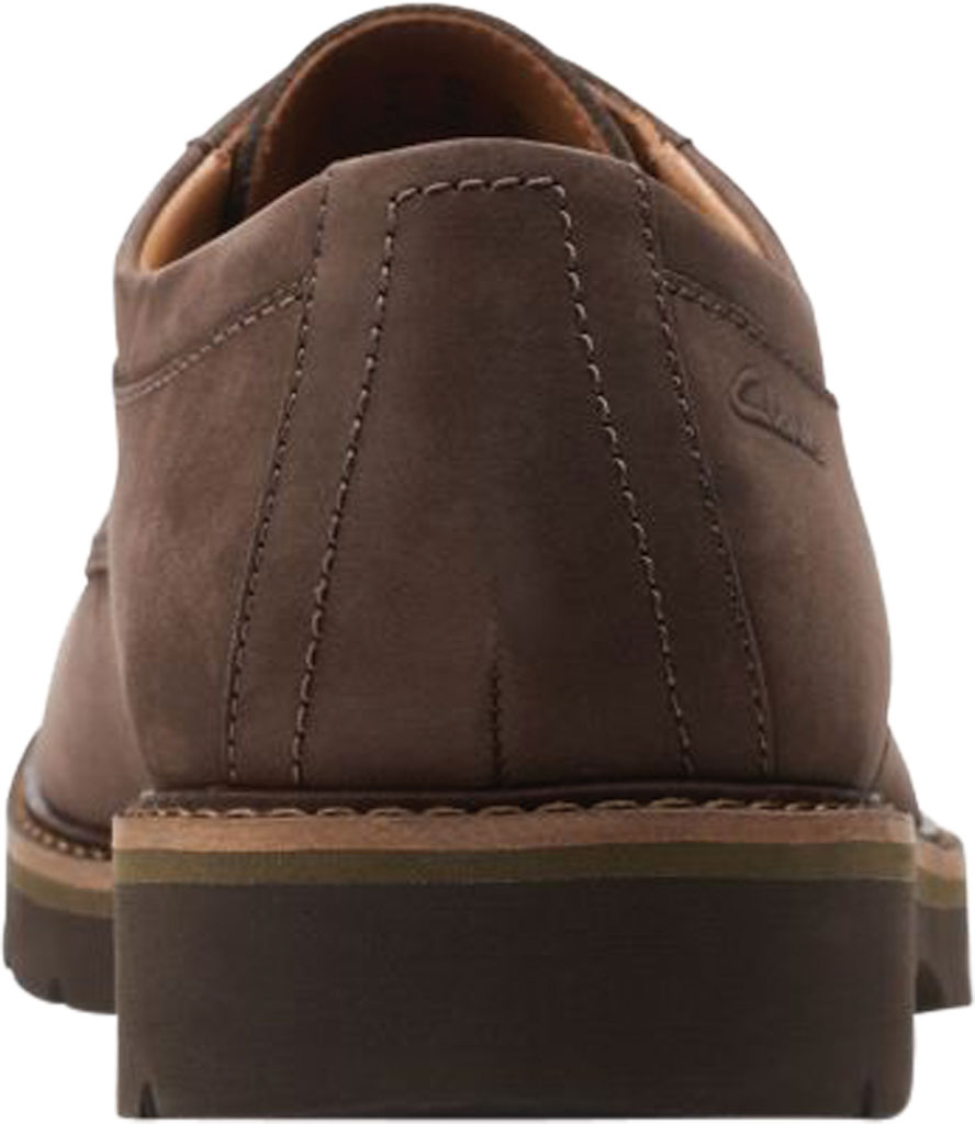 Men's Clarks Bayhill Plain Toe Oxford, Dark Brown Nubuck, large, image 4