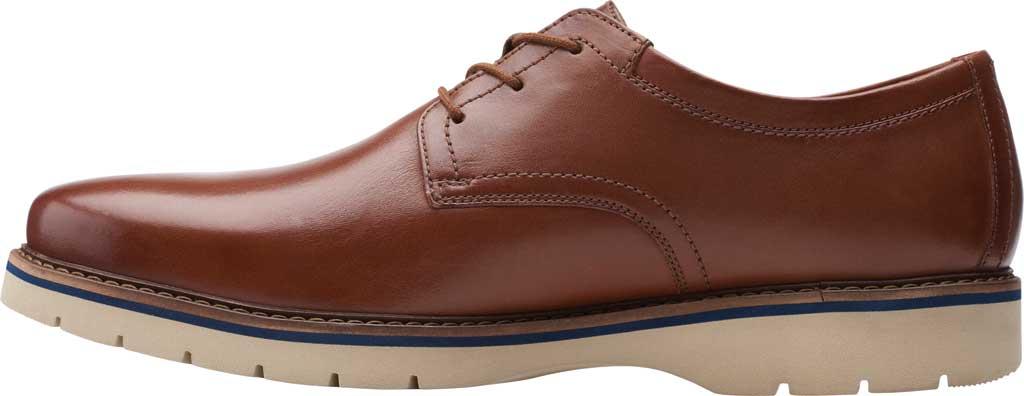 Men's Clarks Bayhill Plain Toe Oxford, Tan Full Grain Leather, large, image 3