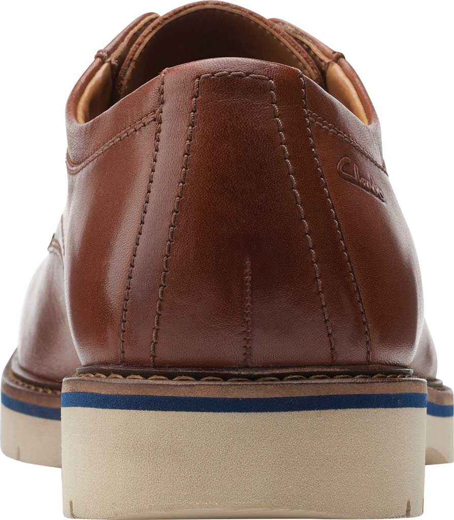 Men's Clarks Bayhill Plain Toe Oxford, Tan Full Grain Leather, large, image 4