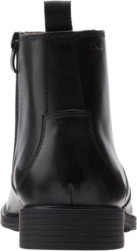 Men's Clarks Whiddon Zip Waterproof Boot, Black Full Grain Leather, large, image 4